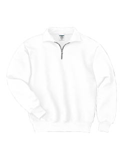 Jerzees Adult 50/50 9.5 Ounce Quarter-Zip Cadet Collar Pullover Sweat