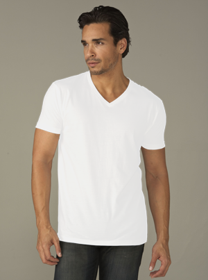 Next Level Men's 4.3 Ounce CVC V-Neck T-Shirt